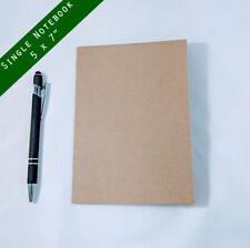 """Kraft Notebook, 5 x 7"""", Journals, Sketchbook, Small Blank Journals- 1 NOTEBOOK"""