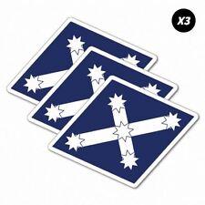 3x Eureka Diamond Flags Sticker Aussie Car Flag 4x4 Funny Ute