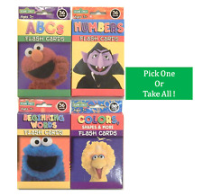 Sesame Street Flash Cards For Toddlers 3+ Abc Words Colors Shapes Numbers