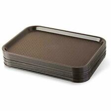 Serving Trays 24395 Brown Plastic Fast Food Tray, 10 By 14-Inch, Set Of 12