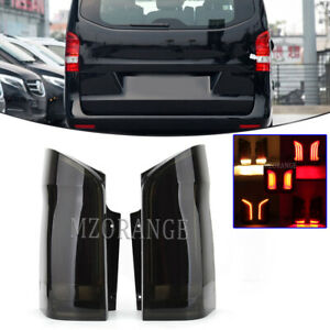 2x Smoked LED Dynamic Rear Tail Light Lamp For Mercedes Benz Vito W447 2015-2020