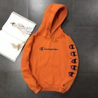 NEW Champion Men's Letters Pullover Hoodie Unisex Fleece Hoodies Hoody Sweater