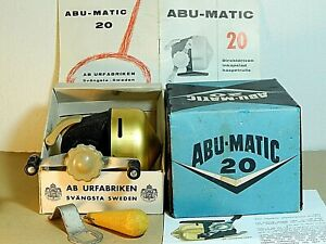 Early 60's Vintage small Abumatic 20 spin-cast reel in box + booklet-used/xclnt+