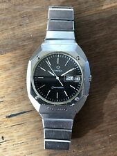 Vintage Omega Seamaster Analog Swiss Quartz Men's Day Date Stainless Steel Watch