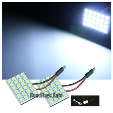 2XUnverisal Interior Light LED HID Panel Bulb Dome Map Trunk 24 Chips SMD WHITE