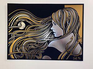 Todd Slater Kalopsia Gold Foil Letterpress S/N MondoCon Official 2019 *RARE*