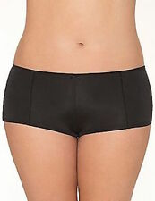LANE BRYANT CACIQUE 26/28 BLACK DAZZLER BOYSHORTS BOY SHORT PANTY NYLON