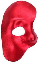 NEW Phantom of the Opera RED Metallic Masquerade Half Face Mask NEW