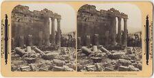 Baalbeck Ruines romaines Liban Lebanon Photo Stereo Stereoview Vintage