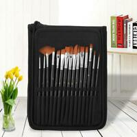 15Pcs Paint Brushes Set For Acrylic Oil Watercolor Artist Painting Art Craft Kit