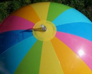"48"" INTEX Inflatable 12 PANEL Rainbow Striped Beach Ball VINTAGE 2006 NOS!"