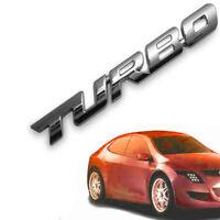 TURBO Lettre Autocollant Voiture Sport 3d placage insigne logo en métal chromé
