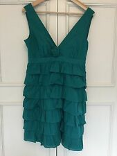 WAREHOUSE, SIZE 12. PARTY / PROM / COCKTAIL COTTON DEEP JADE ADORABLE DRESS.