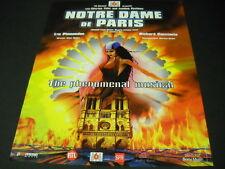 NOTRE DAME DE PARIS The Phenomenal Musical 1999 PROMO POSTER AD mint condition