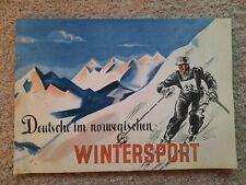 Heft Broschüre Deutsche in Norwegischen Wintersport Haraldsson Oslo Norwegen