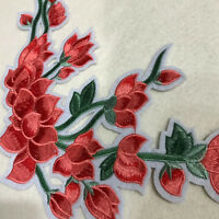 Rose Flower Embroidery Applique Cloth Patch DIY Sewing &Iron on Skirt Bag Badge