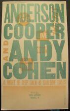 Anderson Cooper & Andy Cohen Ryman Nashville Hatch Show Print Poster 10/06/2017