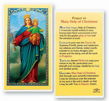 Mary Help of Christians Holy Card (25 per Pack)