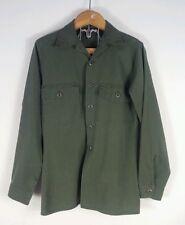 Vintage 60's Vietnam Era Military US Army Shirt OG Fatigue War Small Green