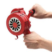 4.5'' Handsirene Aluminiumgehäuse Sirene Handkurbel Einklappbar Alarmsirene Rot