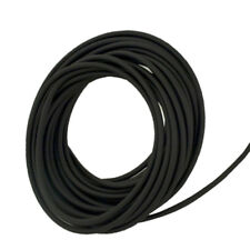 """Soft 50A Black High-Temp Silicone Rubber Inner Dia 3/8"""" Outer Dia 1/2"""" - 100 ft"""