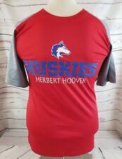 Herbert Hoover Huskies Football Short Sleeve Red & Grey Small S Mens T shirt Wv