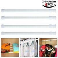 4x Tension Curtain Rod Spring Load Adjustable Curtain Pole Heavy-Duty Steel USA