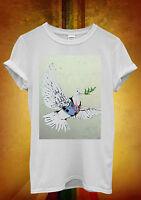 Banksy Peace War Pigeon Hipster Men Women Unisex T Shirt Tank Top Vest 455