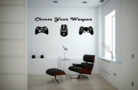 Gaming Pad Weapon Xbox PlayStation Adult Kids Bedroom Wall Decal Sticker O51