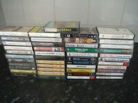 45 BUNDLE CASSETTE TAPE ALBUMS MIXED GENRES COUNTRY EASY LISTENING