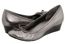 COLE HAAN LACE TALI WEDGE,SILVER-SIZE 9