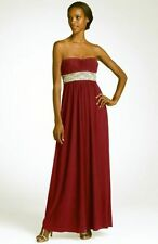 NEW JS Boutique Strapless Bead Dress Gown WEDDING SIZE 2 MAROON NORDSTROM