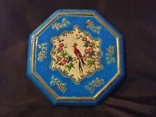 ancien dessous de plat-émaux de longwy-réhaussé-art déco-J.M-décoré main-france