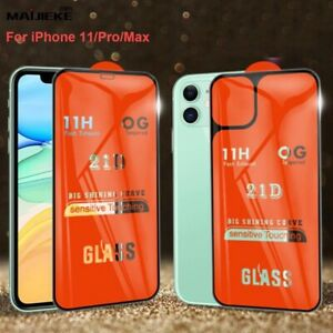 Front and Back FULL 21D TEMPERED GLASS PROTECTOR For iPhone 11/11 Pro/11 Pro Max