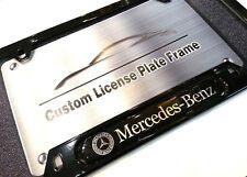 License Plate Frame for MERCEDES-BENZ Gloss Black B C CLA CLS E GLK ML S SL SLS