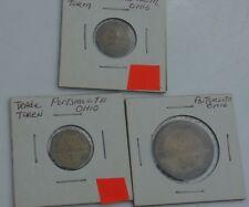 Vintage Trade Token Coin Lot Portsmouth Oh Kademenos Bros Restaurant Octagon