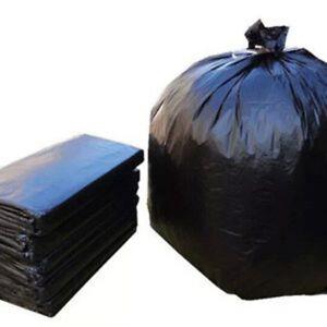 Black Heavy Duty Garbage Bags Bin Liners Rubbish Bin Kitchen Tidy 140L - 250pcs