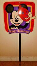 Old Mickey Mouse Rare Disney Halloween Yard Stake Disneyana Decoration