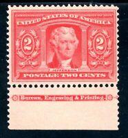 USAstamps Unused VF US 1904 Louisiana Purchase Imprint Scott 324 OG MNH Fresh