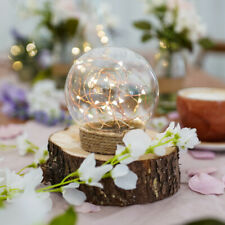 Battery Power Light Up Glass Globe Dome with LED Firefly Lights | Home Wedding