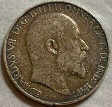 More details for 1908 edward vii silver florin dark patina