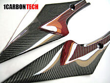 06 07 2006 2007 SUZUKI GSXR 600 750 CARBON FIBER AND RED HYBRID TANK PANELS