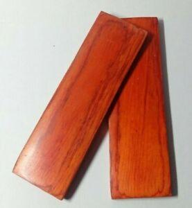 130mm Pair of Orange Pakka Wood Scales Knife Handle Making Blanks