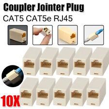 10X Rj45 Cat 5 5E Ethernet Lan Cable Joiner Coupler Connector Plug Network Parts