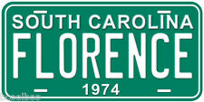 South Carolina 1974 Aluminum Novelty Car License Plate