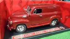 GMC PANEL TRUCK 1950 Rouge au 1/18 MIRA 6212 voiture miniature