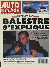 AUTO HEBDO n°768 du 6 Mars 1991 PORSCHE 964 CUP DELTA INTEGRALE R21 TURBO QUADRA