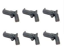 LEGO 6 X Grey Pistol Revolver Blaster for Minifigs NEW Western Cowboy NEW