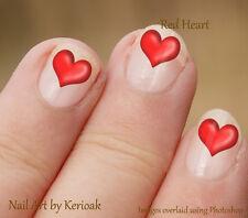 Corazón rojo, Set De 24 Romántico De Arte De Uñas Stickers Calcomanías