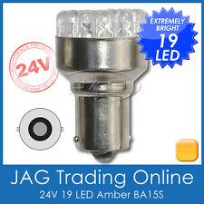 24V 19-LED BA15S 1156 AMBER AUTOMOTIVE GLOBE-Truck/Trailer/Caravan/RV Light Bulb